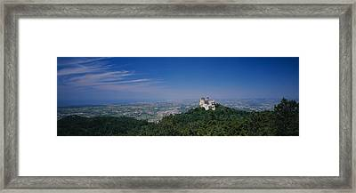 High Angle View Of A Palace On Top Framed Print by Panoramic Images