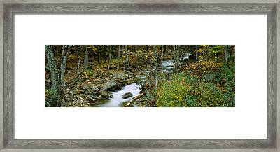 High Angle View Of A Stream Passing Framed Print by Panoramic Images