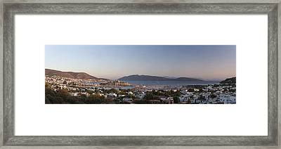High Angle View Of A Town, The Castle Framed Print by Panoramic Images