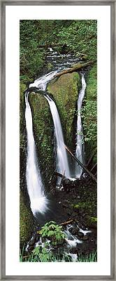 High Angle View Of A Waterfall Framed Print by Panoramic Images