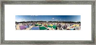 High Angle View Of Aids Quilt Framed Print by Panoramic Images
