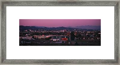 High Angle View Of An Observatory Framed Print by Panoramic Images