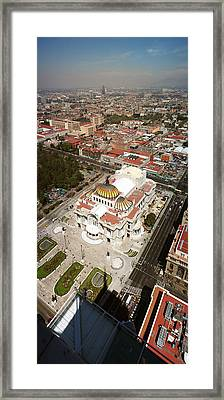 High Angle View Of Palacio De Bellas Framed Print by Panoramic Images