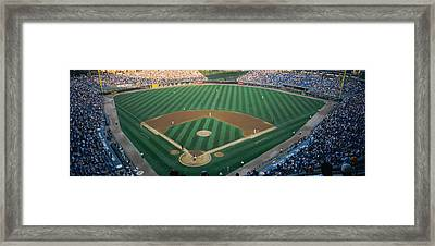 High Angle View Of Spectators Framed Print by Panoramic Images