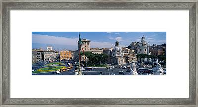 High Angle View Of Traffic On A Road Framed Print by Panoramic Images