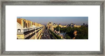 High Angle View Of Vehicles Framed Print by Panoramic Images