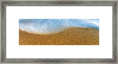 High Angle View Of Waves On The Beach Framed Print by Panoramic Images