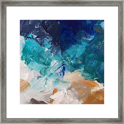High As A Mountain- Contemporary Abstract Painting Framed Print by Linda Woods