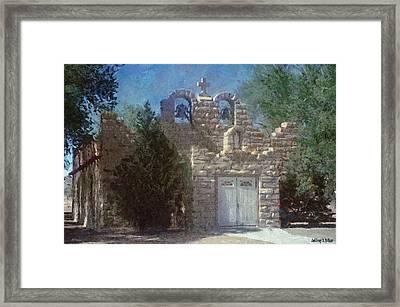 High Desert Church Framed Print by Jeff Kolker
