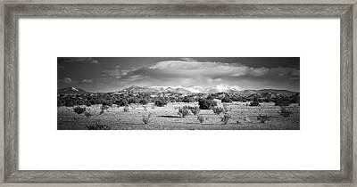 High Desert Plains Landscape Framed Print by Panoramic Images