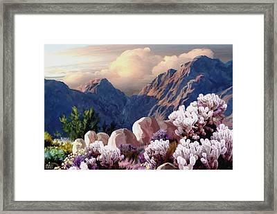 High Desert Sunrise Framed Print by Ron Chambers