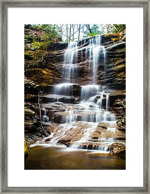 High Falls At Moss Rock Preserve Framed Print by Parker Cunningham