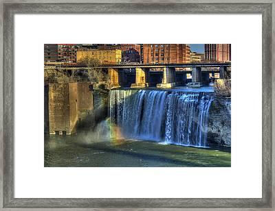 High Falls Rainbow Framed Print by Tim Buisman