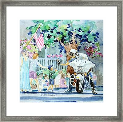 High Five Framed Print by Diane Wallace