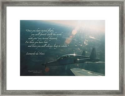 T-38 Leonardo Da Vinci Framed Print by Wade Meyers