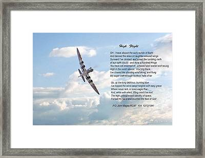 High Flight Framed Print by Pat Speirs