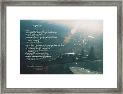 High Flight T-38c Framed Print by Wade Meyers