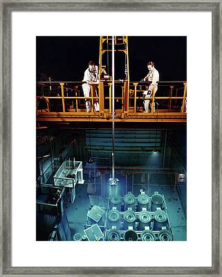 High Flux Isotope Reactor Framed Print by Union Carbide Corporation's Nuclear Division, Courtesy Emilio Segre Visual Archives, Physics Today Collection/american Institute Of Physics