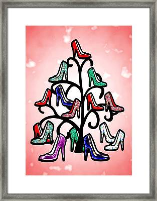 High Heels Tree Framed Print by Anastasiya Malakhova