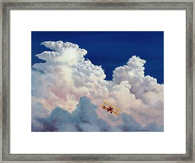 High In The Halls Of Freedom Framed Print by Michael Swanson