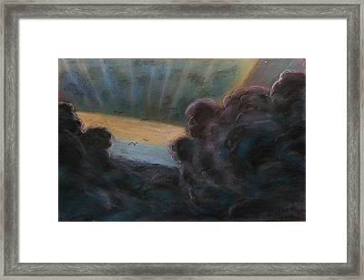 High In To The Clouds Framed Print by Rashid Hamza