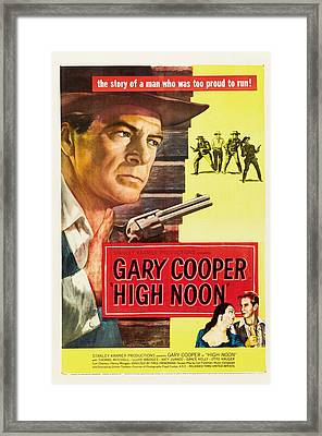 High Noon - 1952 Framed Print by Georgia Fowler