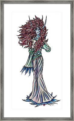 High Ogre Elessidia Framed Print by Shawn Dall