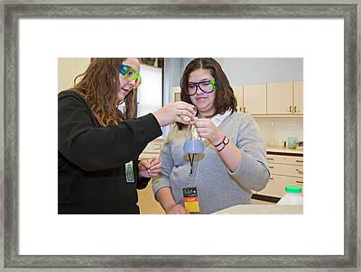 High School Chemistry Lesson Framed Print by Jim West