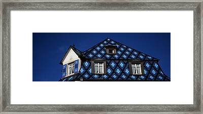 High Section View Of A House, Germany Framed Print by Panoramic Images