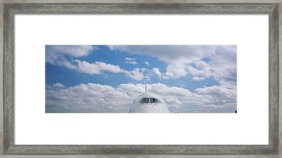 High Section View Of An Airplane Framed Print by Panoramic Images