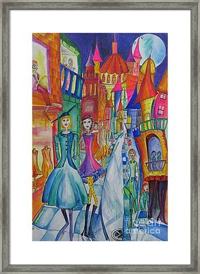 High Street Fashion Framed Print by Cate Field