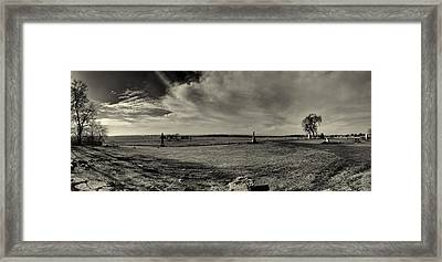 High Tide Of The Confederacy Black And White Framed Print by Joshua House