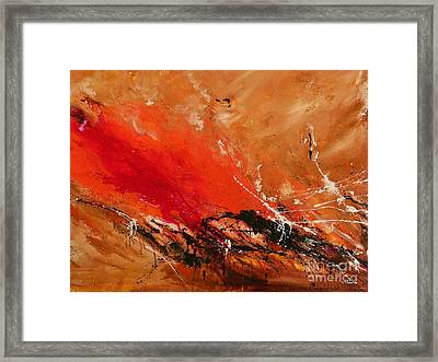 High Time - Abstract Art Framed Print by Ismeta Gruenwald