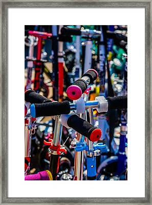 High Time To Buy A Scooter 2 Vertical Framed Print by Alexander Senin