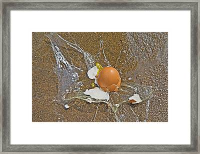 High Velocity Warning Framed Print by Betsy C Knapp