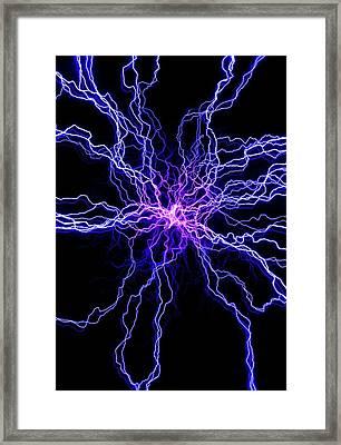 High Voltage Discharge Framed Print by David Parker