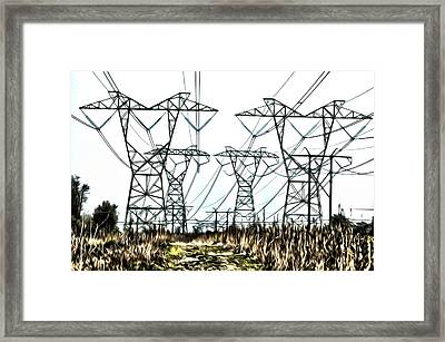 High Wire Act Framed Print by Bill Cannon