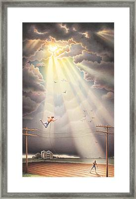 High Wire - Dream Series No. 4 Framed Print by Amy S Turner