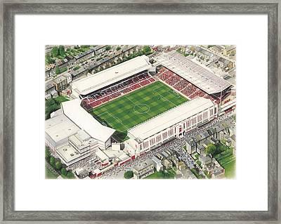 Highbury - Arsenal Framed Print by Kevin Fletcher