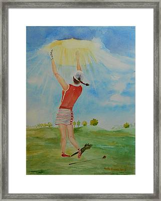 Highest Calling Is God Next Golf Framed Print by Geeta Biswas