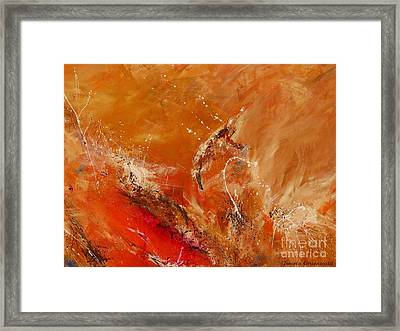 Highest Time 2 - Abstract Art Framed Print by Ismeta Gruenwald