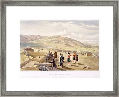Highland Brigade Camp Framed Print by British Library
