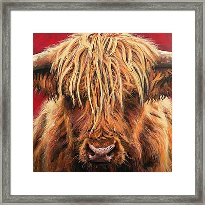 Highland Cow Framed Print by Leigh Banks