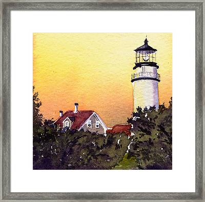 Highland Light Framed Print by Heidi Gallo