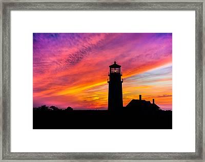 Highland Light Silhouette  Framed Print by Dean Martin