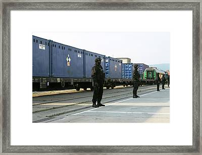 Highly Enriched Uranium Train Framed Print by National Nuclear Security Administration