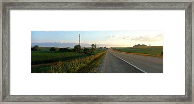 Highway Eastern Ia Framed Print by Panoramic Images