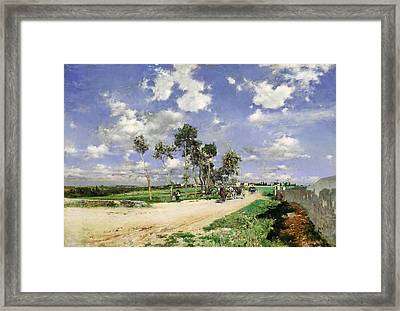 Highway Of Combes-la-ville Framed Print by Giovanni Boldini