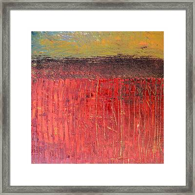 Highway Series - Cranberry Bog Framed Print by Michelle Calkins