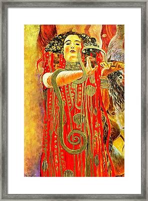 Higieja-according To Gustaw Klimt Framed Print by Henryk Gorecki